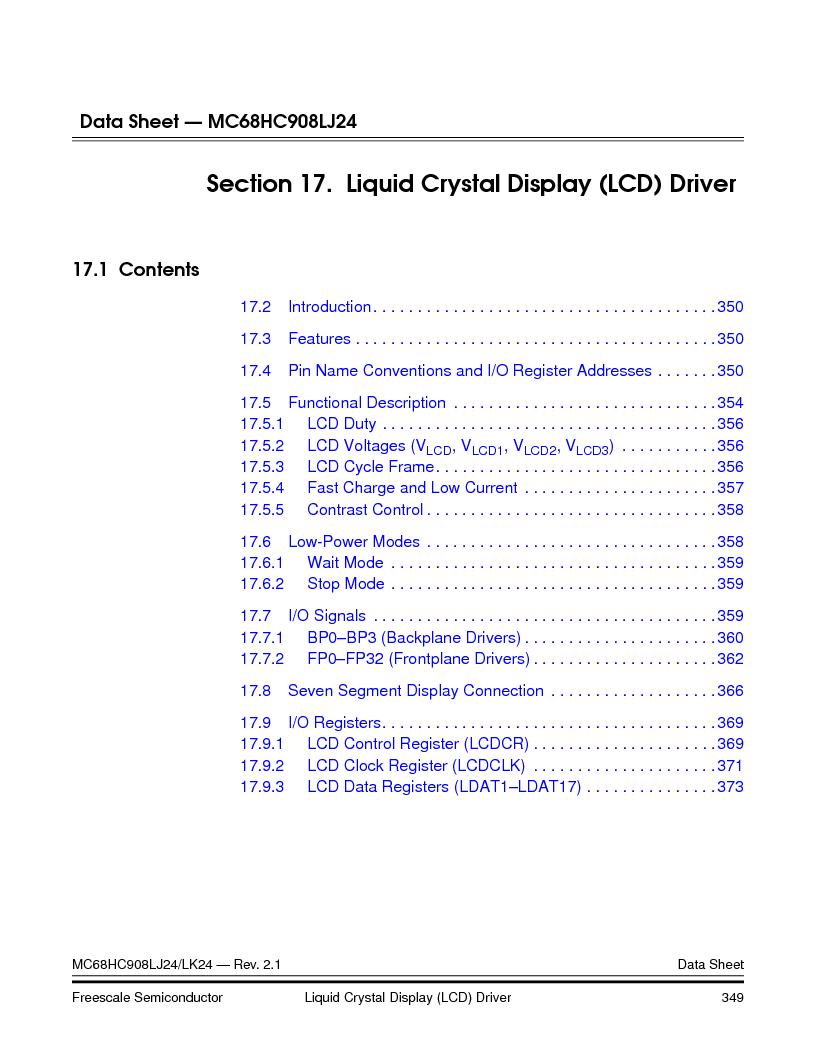 MC908LJ24CFUER ,Freescale Semiconductor厂商,IC MCU 24K FLASH 8MHZ SPI 64-QFP, MC908LJ24CFUER datasheet预览  第349页