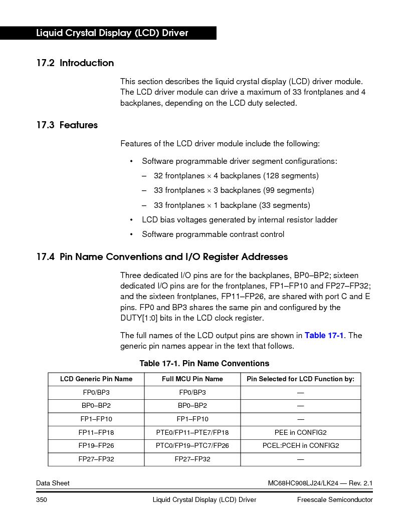 MC908LJ24CFUER ,Freescale Semiconductor厂商,IC MCU 24K FLASH 8MHZ SPI 64-QFP, MC908LJ24CFUER datasheet预览  第350页