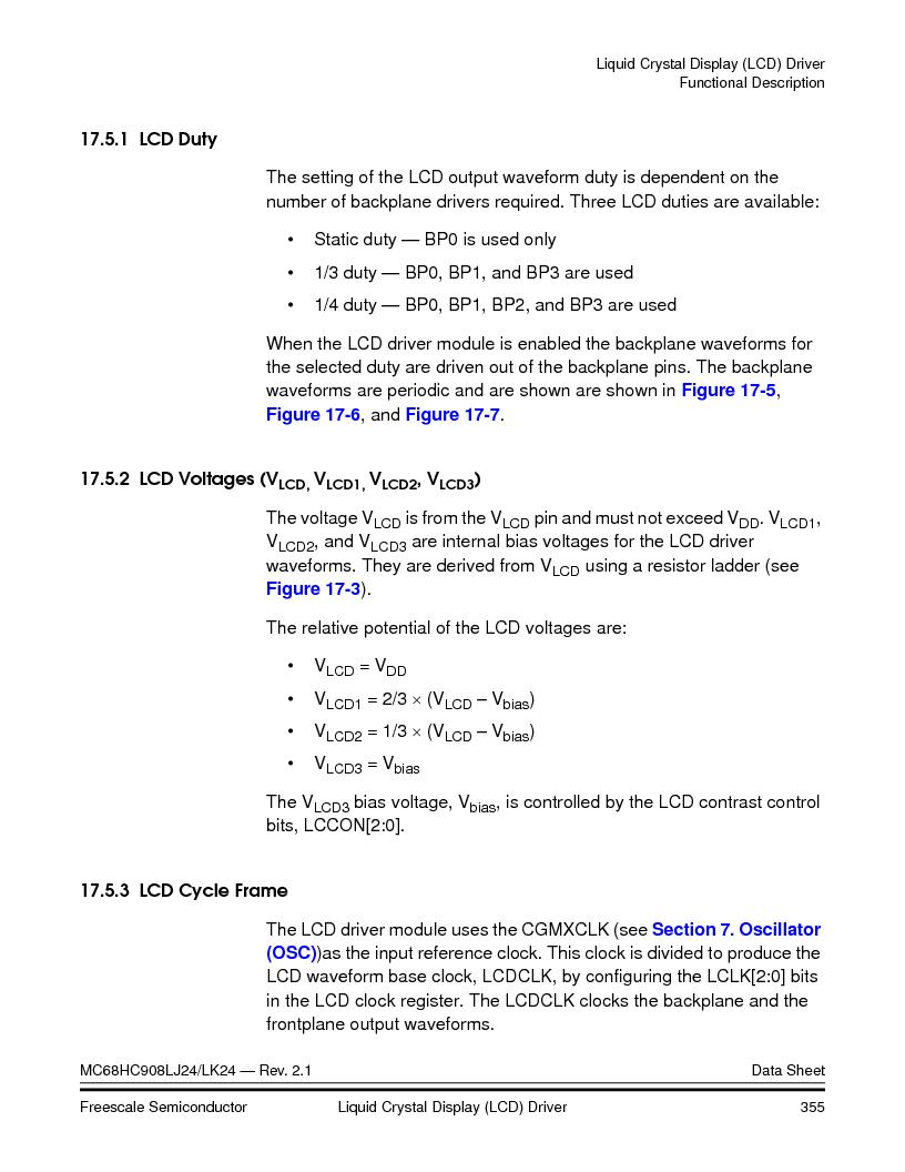MC908LJ24CFUER ,Freescale Semiconductor厂商,IC MCU 24K FLASH 8MHZ SPI 64-QFP, MC908LJ24CFUER datasheet预览  第355页