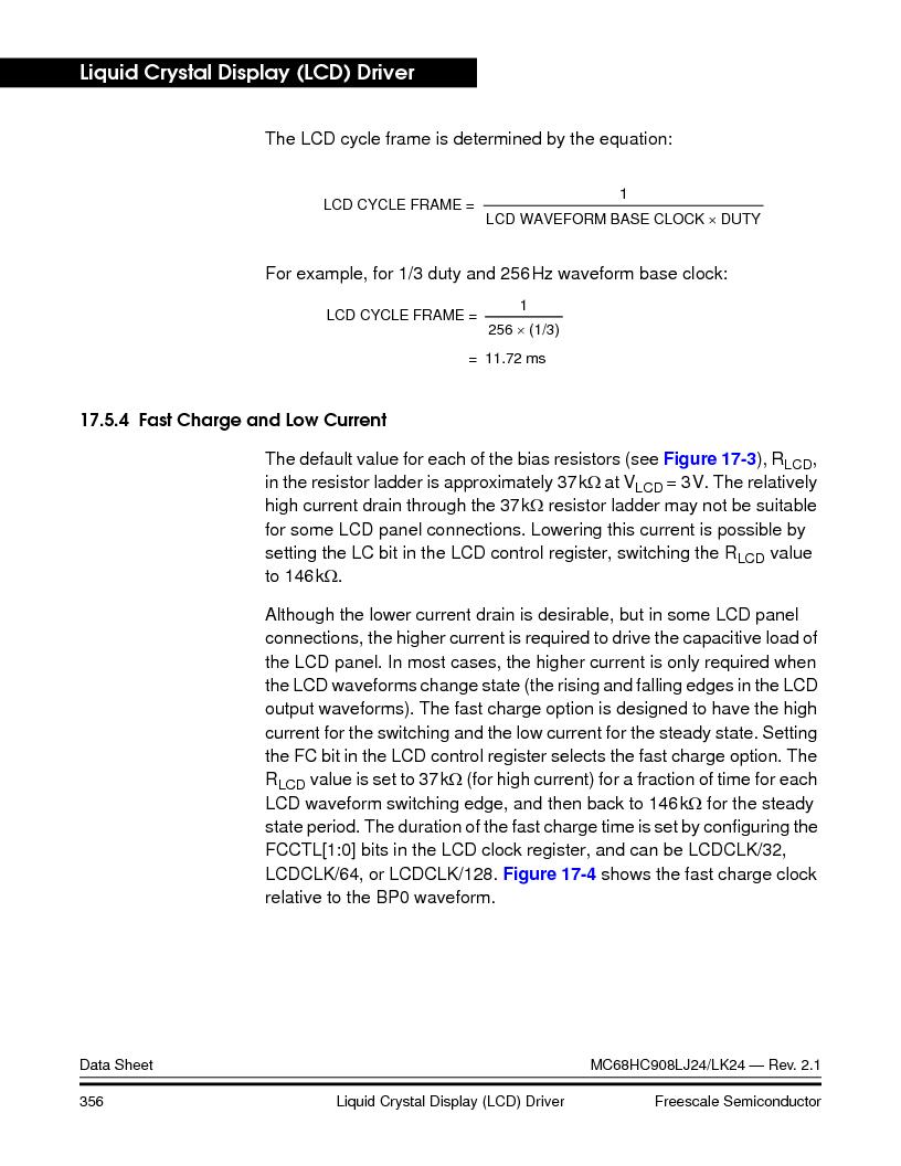 MC908LJ24CFUER ,Freescale Semiconductor厂商,IC MCU 24K FLASH 8MHZ SPI 64-QFP, MC908LJ24CFUER datasheet预览  第356页