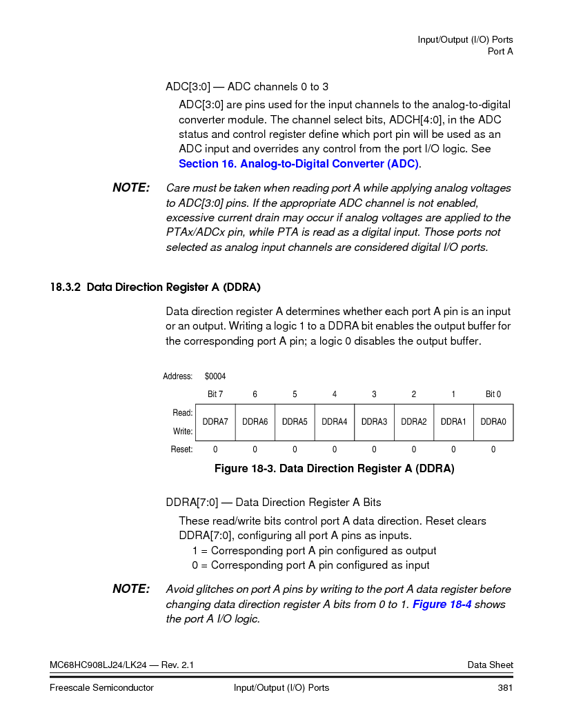 MC908LJ24CFUER ,Freescale Semiconductor厂商,IC MCU 24K FLASH 8MHZ SPI 64-QFP, MC908LJ24CFUER datasheet预览  第381页
