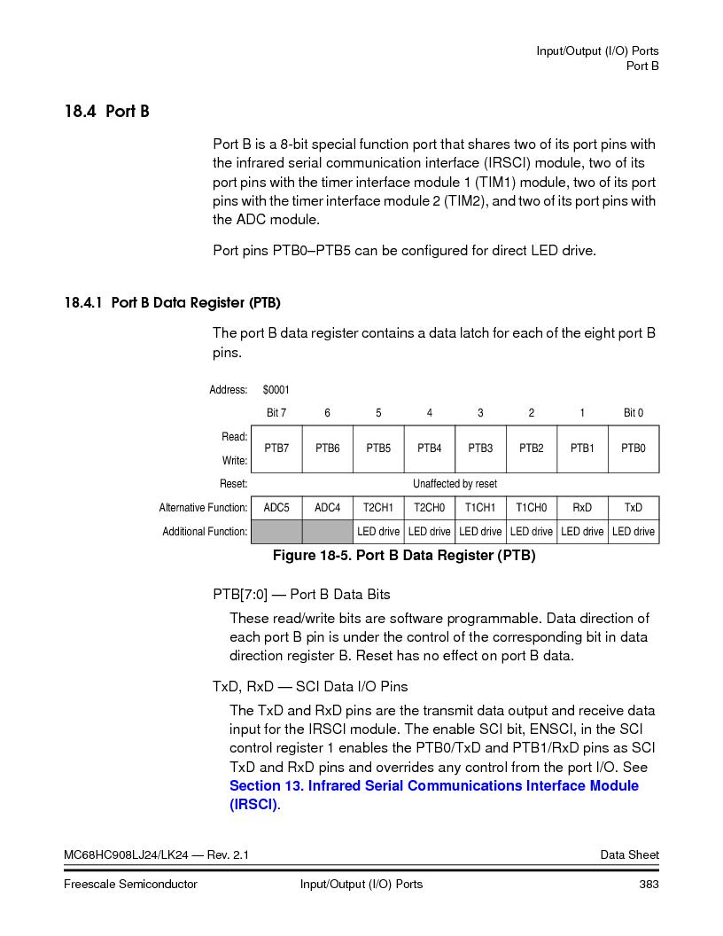 MC908LJ24CFUER ,Freescale Semiconductor厂商,IC MCU 24K FLASH 8MHZ SPI 64-QFP, MC908LJ24CFUER datasheet预览  第383页