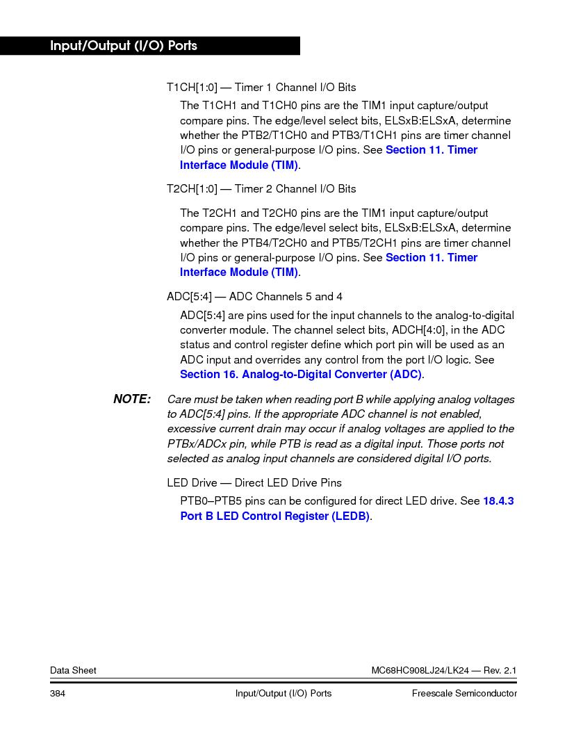 MC908LJ24CFUER ,Freescale Semiconductor厂商,IC MCU 24K FLASH 8MHZ SPI 64-QFP, MC908LJ24CFUER datasheet预览  第384页