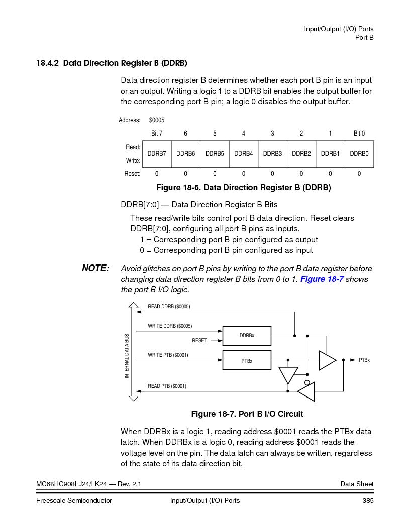 MC908LJ24CFUER ,Freescale Semiconductor厂商,IC MCU 24K FLASH 8MHZ SPI 64-QFP, MC908LJ24CFUER datasheet预览  第385页