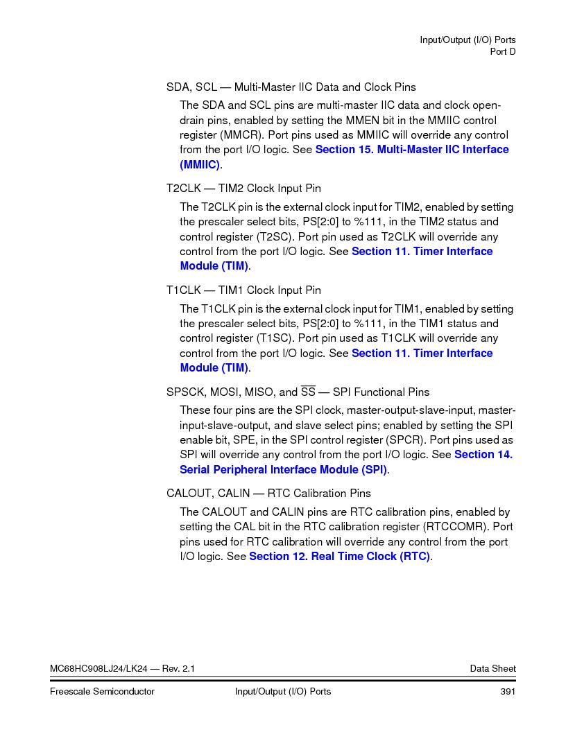 MC908LJ24CFUER ,Freescale Semiconductor厂商,IC MCU 24K FLASH 8MHZ SPI 64-QFP, MC908LJ24CFUER datasheet预览  第391页