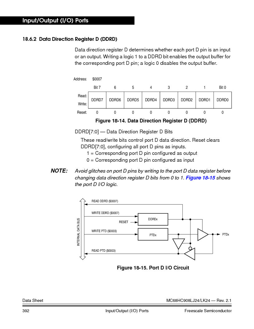 MC908LJ24CFUER ,Freescale Semiconductor厂商,IC MCU 24K FLASH 8MHZ SPI 64-QFP, MC908LJ24CFUER datasheet预览  第392页