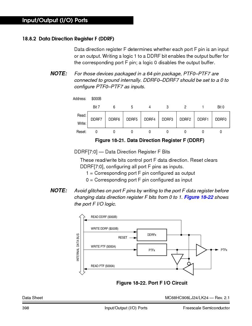 MC908LJ24CFUER ,Freescale Semiconductor厂商,IC MCU 24K FLASH 8MHZ SPI 64-QFP, MC908LJ24CFUER datasheet预览  第398页