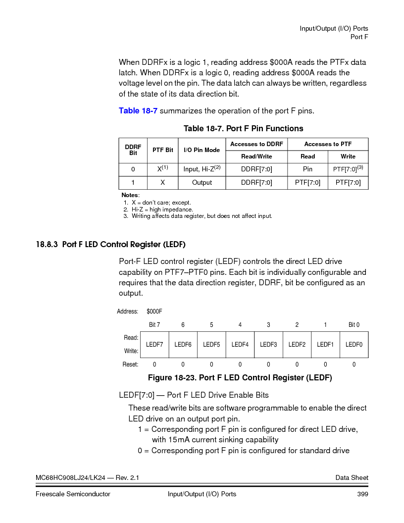 MC908LJ24CFUER ,Freescale Semiconductor厂商,IC MCU 24K FLASH 8MHZ SPI 64-QFP, MC908LJ24CFUER datasheet预览  第399页