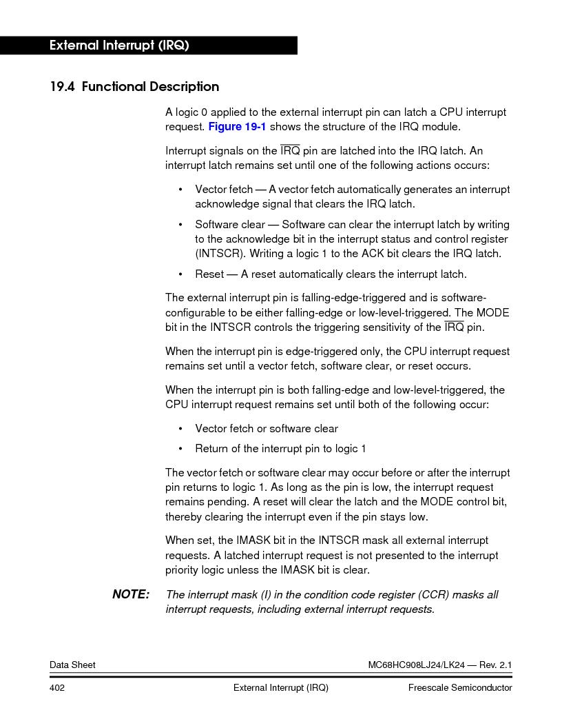 MC908LJ24CFUER ,Freescale Semiconductor厂商,IC MCU 24K FLASH 8MHZ SPI 64-QFP, MC908LJ24CFUER datasheet预览  第402页