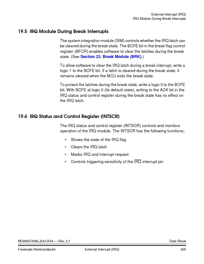 MC908LJ24CFUER ,Freescale Semiconductor厂商,IC MCU 24K FLASH 8MHZ SPI 64-QFP, MC908LJ24CFUER datasheet预览  第405页