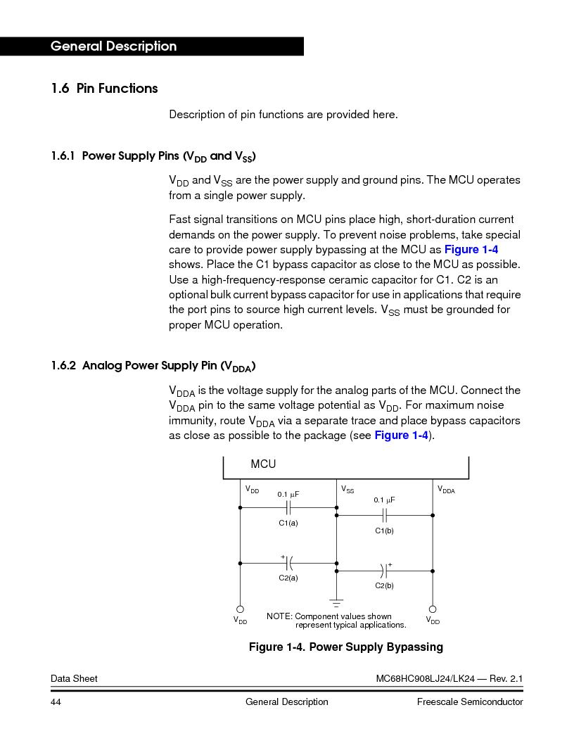 MC908LJ24CFUER ,Freescale Semiconductor厂商,IC MCU 24K FLASH 8MHZ SPI 64-QFP, MC908LJ24CFUER datasheet预览  第44页