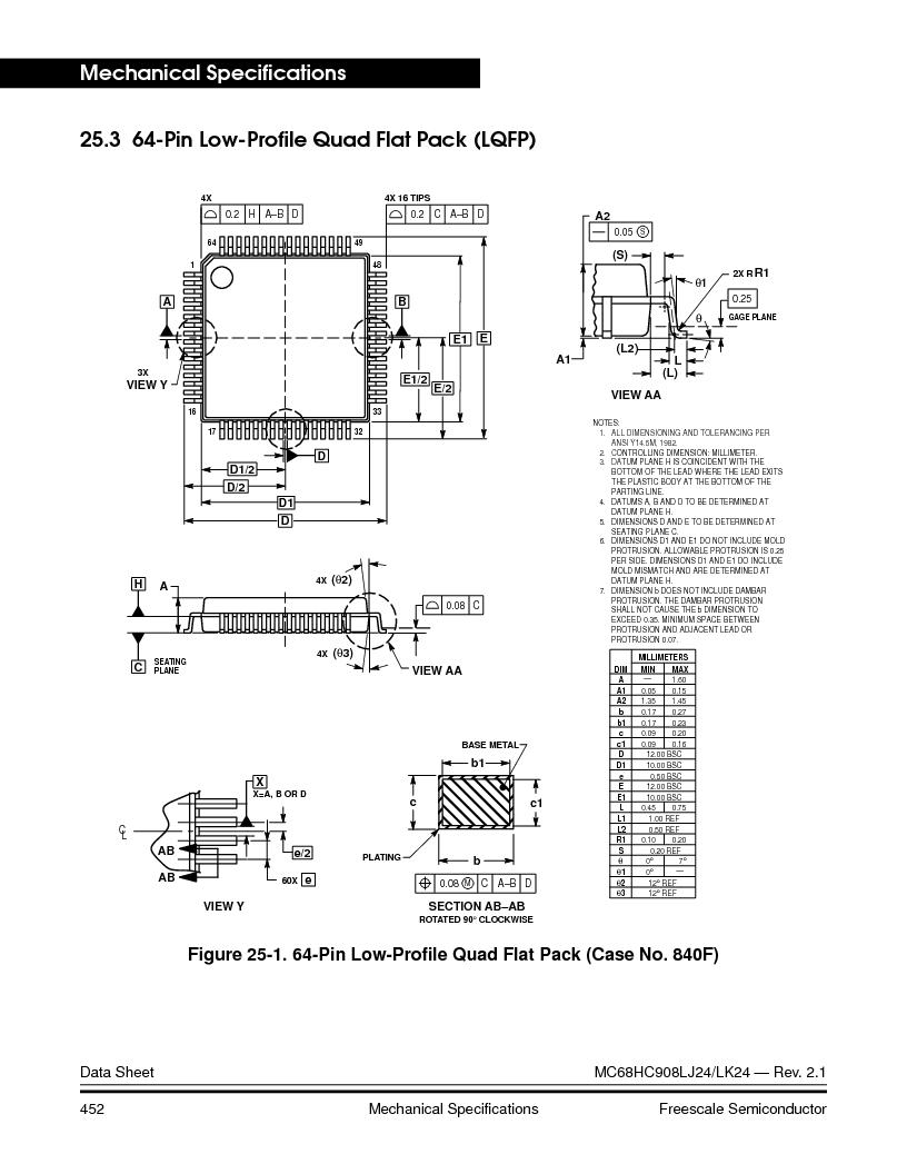 MC908LJ24CFUER ,Freescale Semiconductor厂商,IC MCU 24K FLASH 8MHZ SPI 64-QFP, MC908LJ24CFUER datasheet预览  第452页