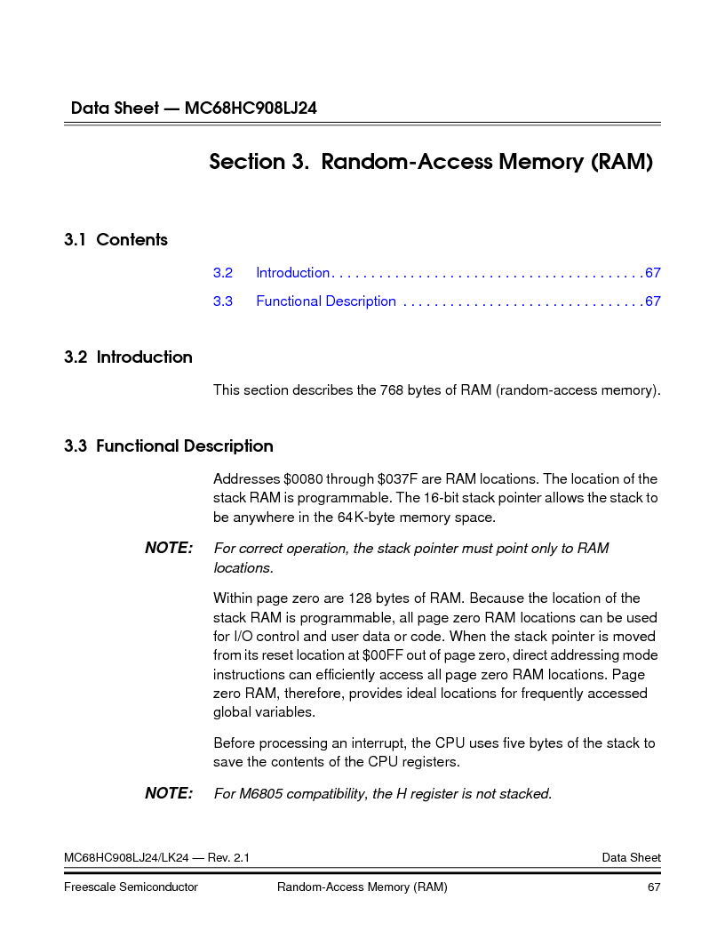 MC908LJ24CFUER ,Freescale Semiconductor厂商,IC MCU 24K FLASH 8MHZ SPI 64-QFP, MC908LJ24CFUER datasheet预览  第67页