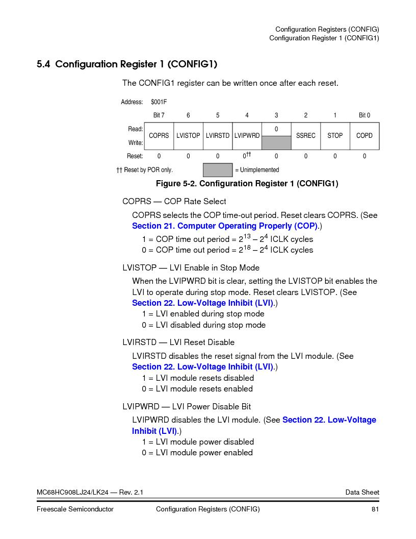 MC908LJ24CFUER ,Freescale Semiconductor厂商,IC MCU 24K FLASH 8MHZ SPI 64-QFP, MC908LJ24CFUER datasheet预览  第81页