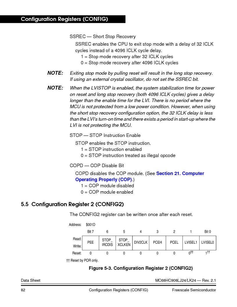 MC908LJ24CFUER ,Freescale Semiconductor厂商,IC MCU 24K FLASH 8MHZ SPI 64-QFP, MC908LJ24CFUER datasheet预览  第82页