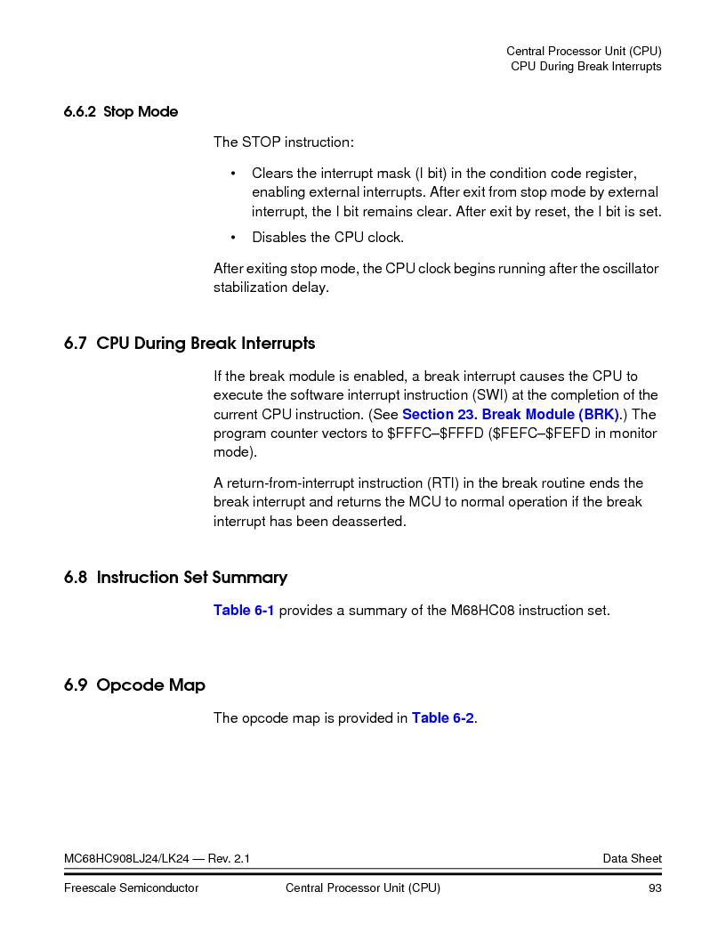 MC908LJ24CFUER ,Freescale Semiconductor厂商,IC MCU 24K FLASH 8MHZ SPI 64-QFP, MC908LJ24CFUER datasheet预览  第93页