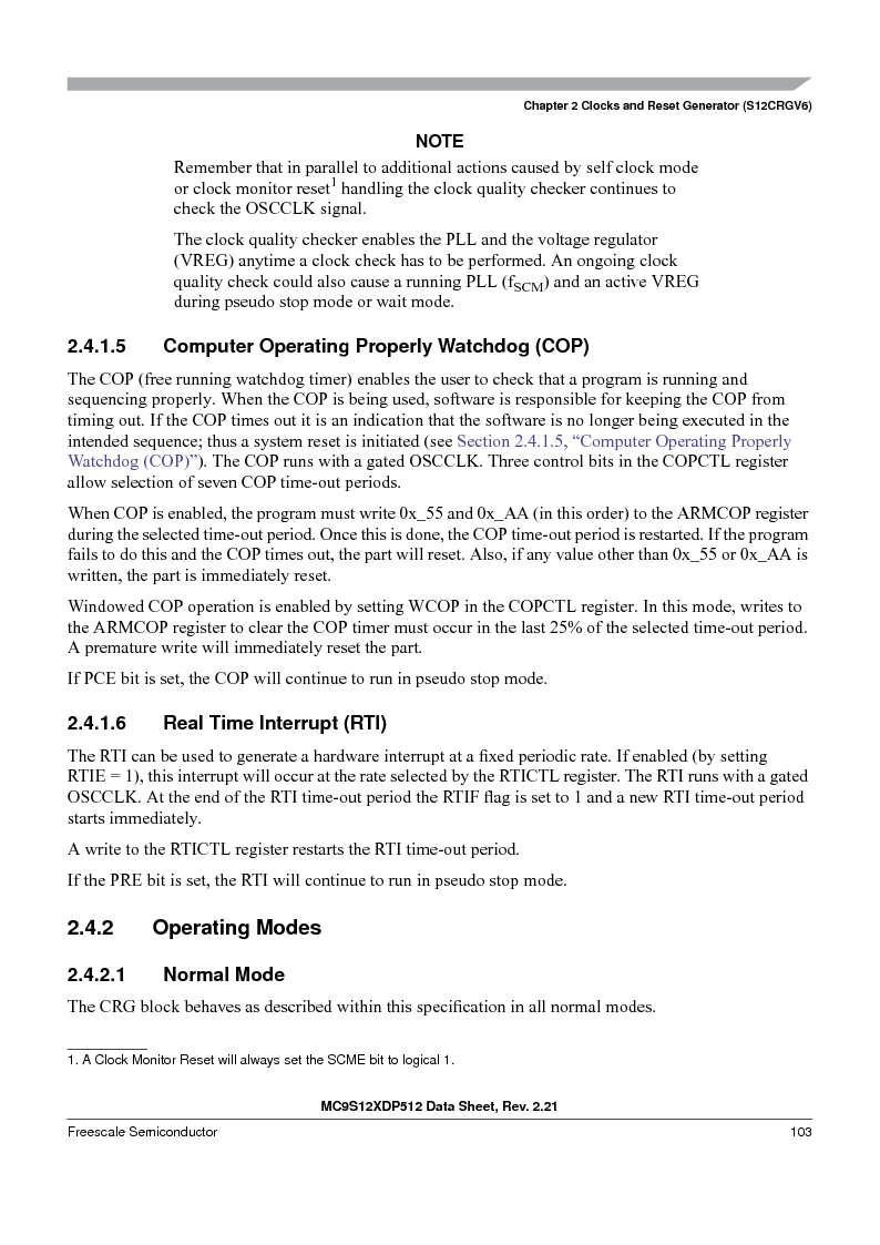 MC9S12XD128MAL ,Freescale Semiconductor厂商,MCU 16BIT 128K FLASH 112-LQFP, MC9S12XD128MAL datasheet预览  第103页
