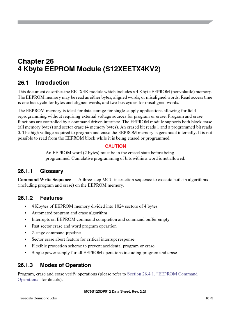 MC9S12XD128MAL ,Freescale Semiconductor厂商,MCU 16BIT 128K FLASH 112-LQFP, MC9S12XD128MAL datasheet预览  第1071页