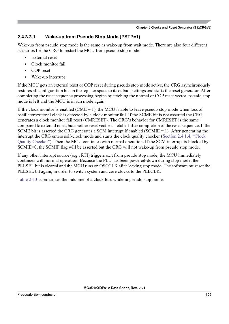 MC9S12XD128MAL ,Freescale Semiconductor厂商,MCU 16BIT 128K FLASH 112-LQFP, MC9S12XD128MAL datasheet预览  第109页