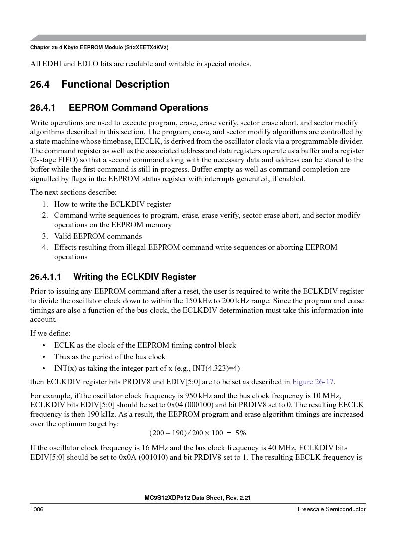 MC9S12XD128MAL ,Freescale Semiconductor厂商,MCU 16BIT 128K FLASH 112-LQFP, MC9S12XD128MAL datasheet预览  第1084页