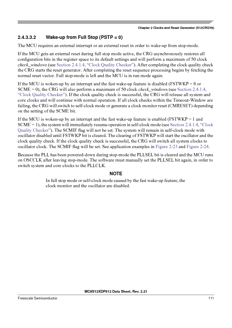 MC9S12XD128MAL ,Freescale Semiconductor厂商,MCU 16BIT 128K FLASH 112-LQFP, MC9S12XD128MAL datasheet预览  第111页