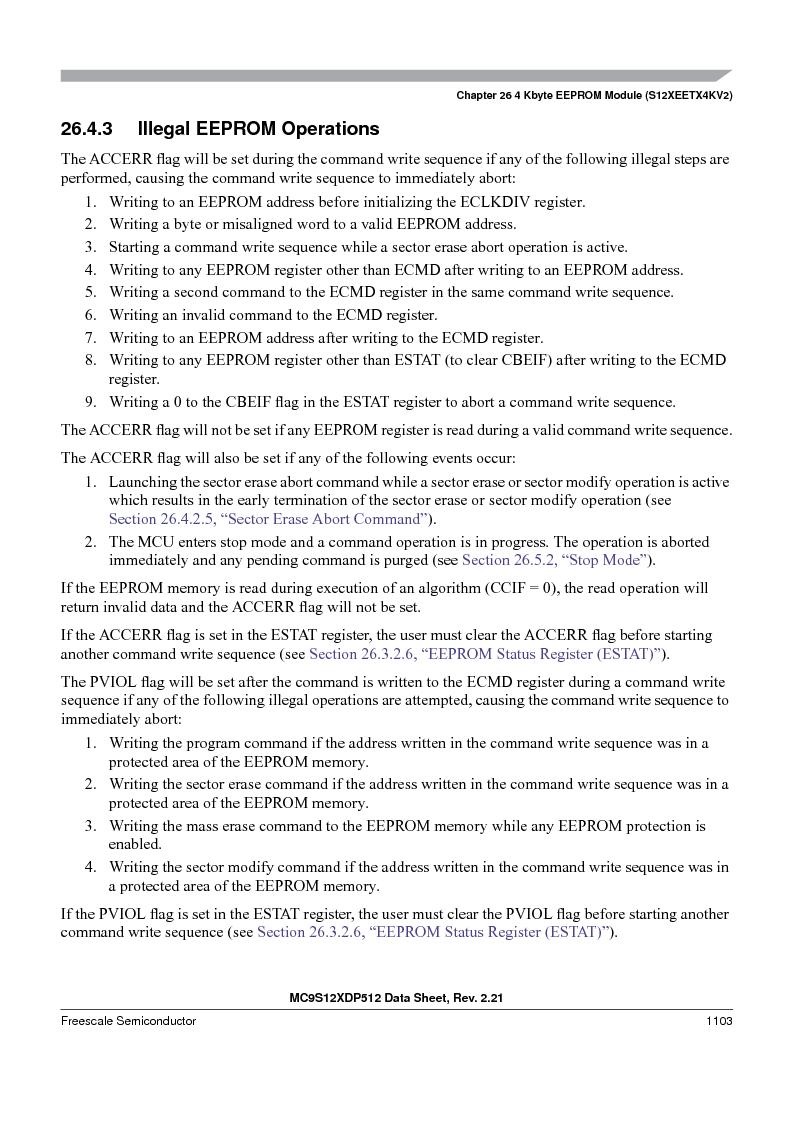 MC9S12XD128MAL ,Freescale Semiconductor厂商,MCU 16BIT 128K FLASH 112-LQFP, MC9S12XD128MAL datasheet预览  第1101页