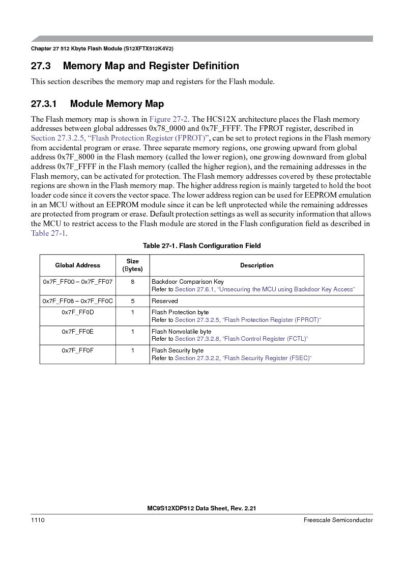 MC9S12XD128MAL ,Freescale Semiconductor厂商,MCU 16BIT 128K FLASH 112-LQFP, MC9S12XD128MAL datasheet预览  第1108页