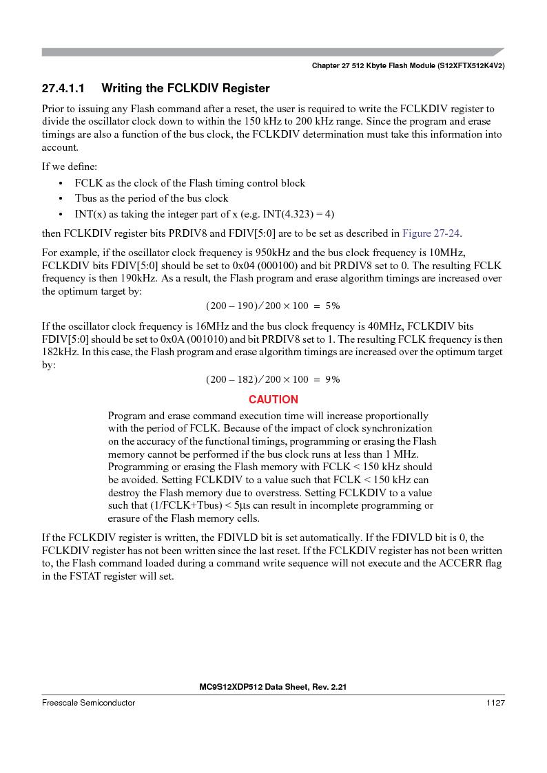 MC9S12XD128MAL ,Freescale Semiconductor厂商,MCU 16BIT 128K FLASH 112-LQFP, MC9S12XD128MAL datasheet预览  第1125页