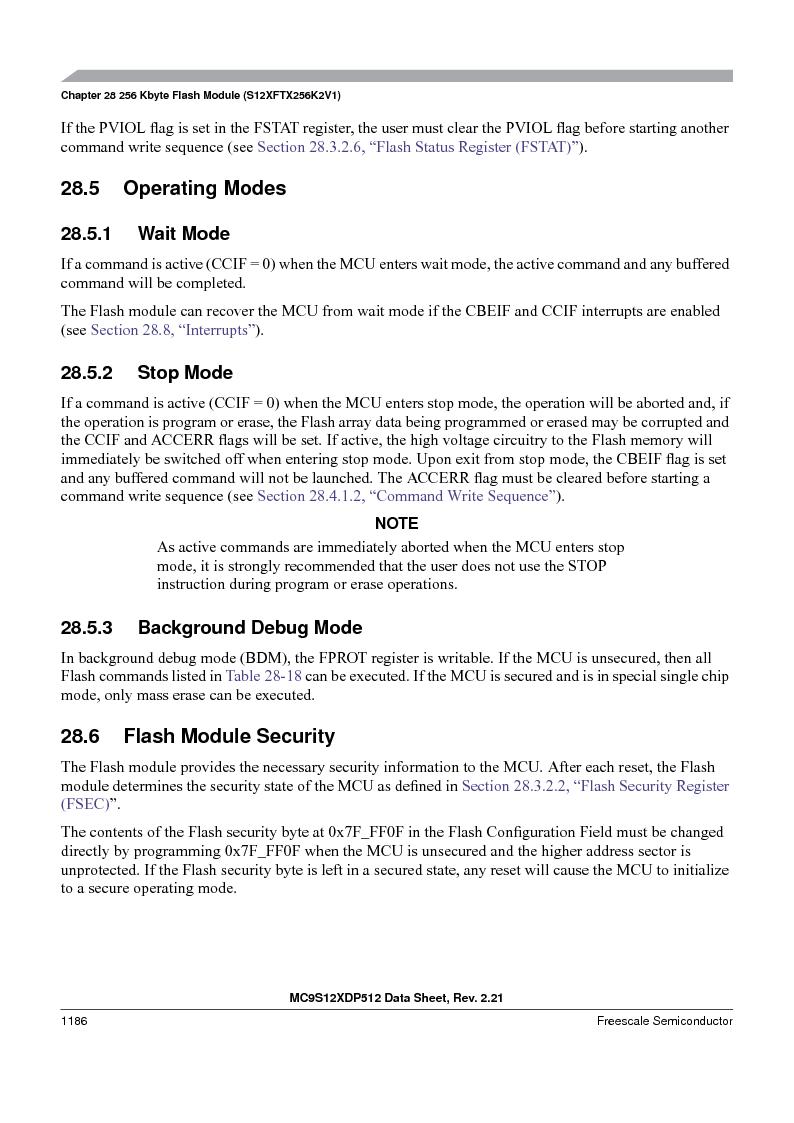 MC9S12XD128MAL ,Freescale Semiconductor厂商,MCU 16BIT 128K FLASH 112-LQFP, MC9S12XD128MAL datasheet预览  第1184页
