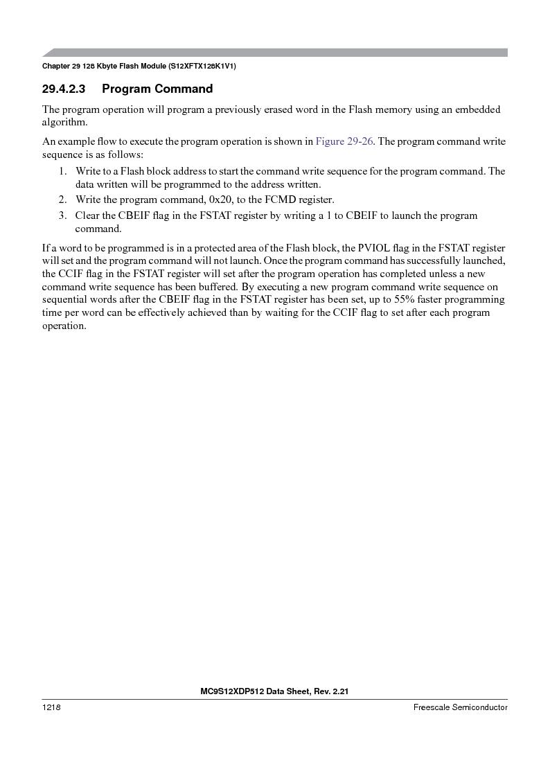 MC9S12XD128MAL ,Freescale Semiconductor厂商,MCU 16BIT 128K FLASH 112-LQFP, MC9S12XD128MAL datasheet预览  第1216页