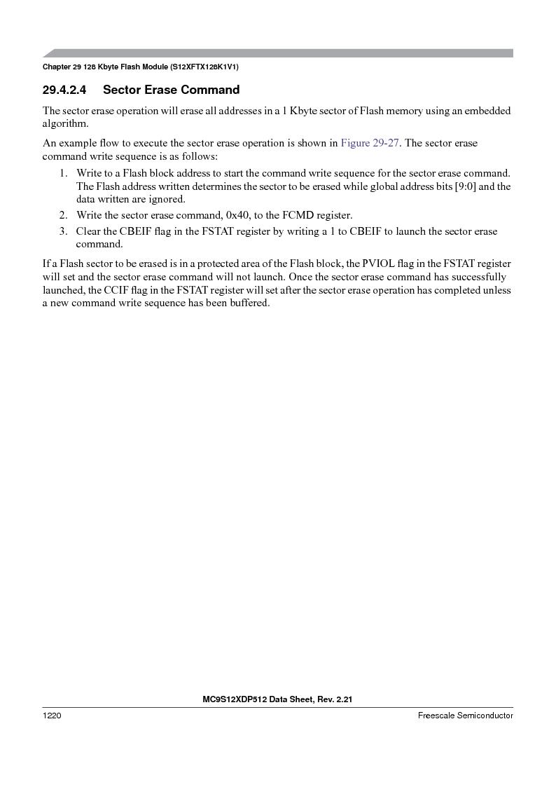 MC9S12XD128MAL ,Freescale Semiconductor厂商,MCU 16BIT 128K FLASH 112-LQFP, MC9S12XD128MAL datasheet预览  第1218页