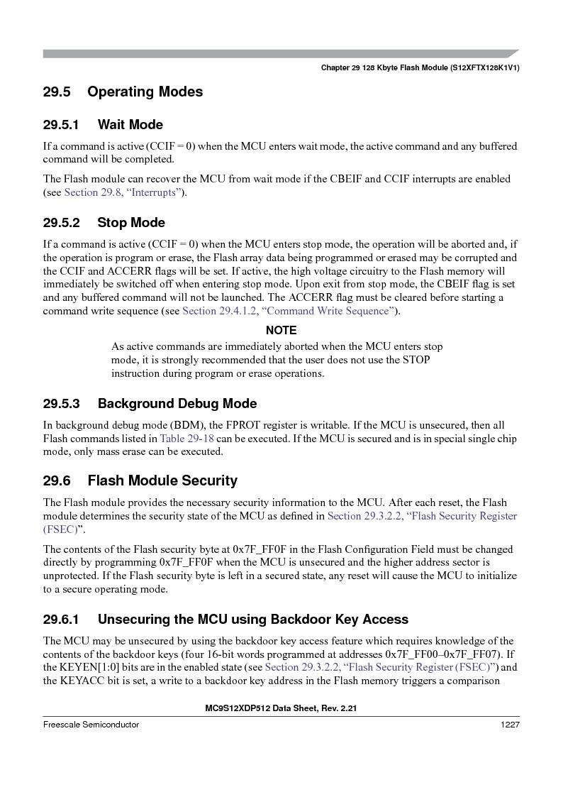 MC9S12XD128MAL ,Freescale Semiconductor厂商,MCU 16BIT 128K FLASH 112-LQFP, MC9S12XD128MAL datasheet预览  第1225页