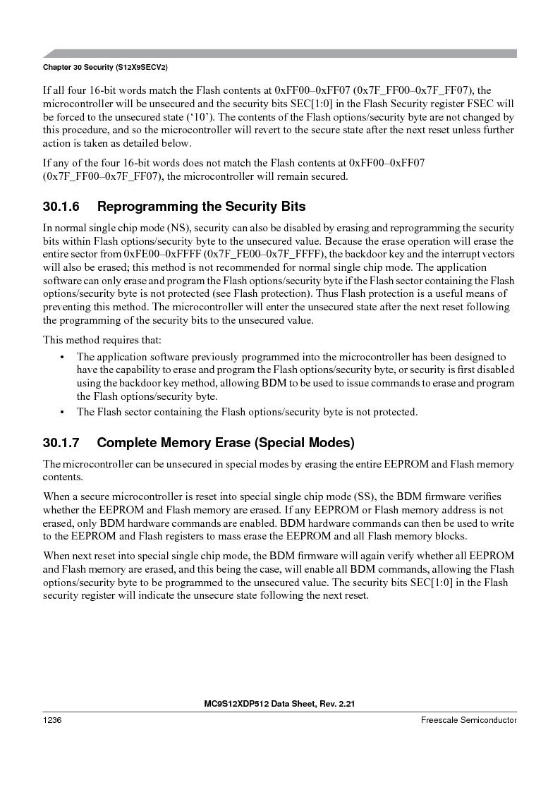 MC9S12XD128MAL ,Freescale Semiconductor厂商,MCU 16BIT 128K FLASH 112-LQFP, MC9S12XD128MAL datasheet预览  第1234页