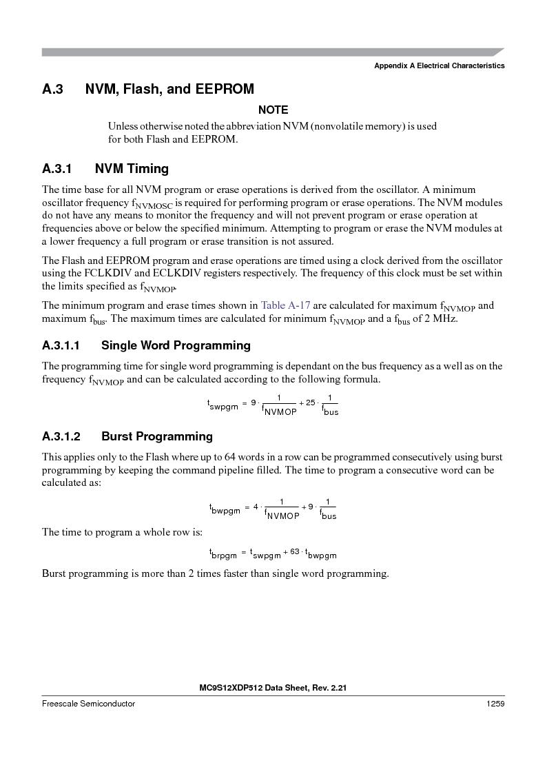 MC9S12XD128MAL ,Freescale Semiconductor厂商,MCU 16BIT 128K FLASH 112-LQFP, MC9S12XD128MAL datasheet预览  第1257页