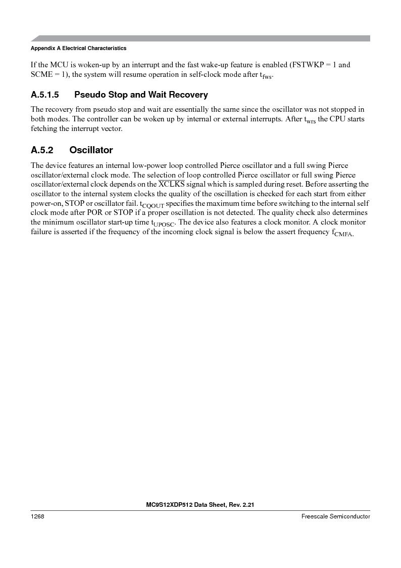 MC9S12XD128MAL ,Freescale Semiconductor厂商,MCU 16BIT 128K FLASH 112-LQFP, MC9S12XD128MAL datasheet预览  第1266页