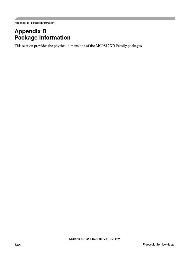 MC9S12XD128MAL ,Freescale Semiconductor厂商,MCU 16BIT 128K FLASH 112-LQFP, MC9S12XD128MAL datasheet预览  第1288页