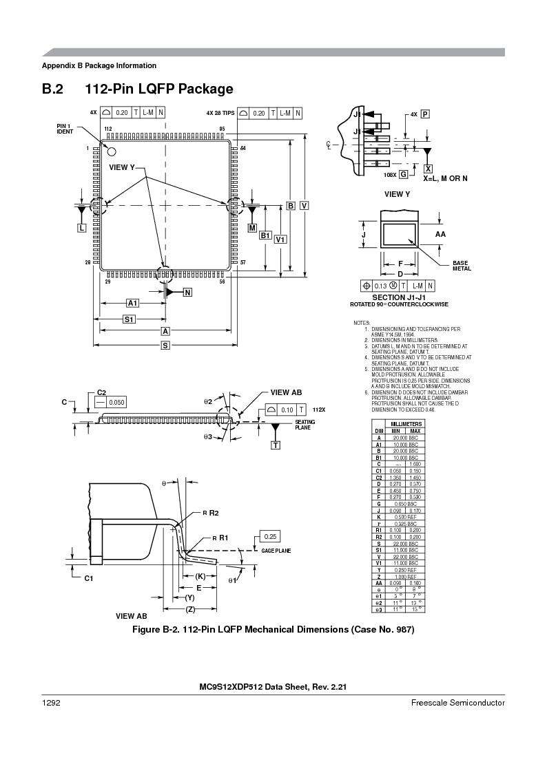 MC9S12XD128MAL ,Freescale Semiconductor厂商,MCU 16BIT 128K FLASH 112-LQFP, MC9S12XD128MAL datasheet预览  第1290页