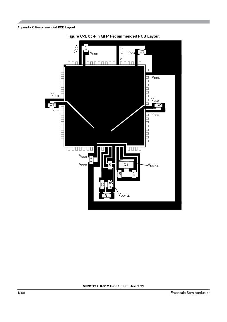 MC9S12XD128MAL ,Freescale Semiconductor厂商,MCU 16BIT 128K FLASH 112-LQFP, MC9S12XD128MAL datasheet预览  第1296页