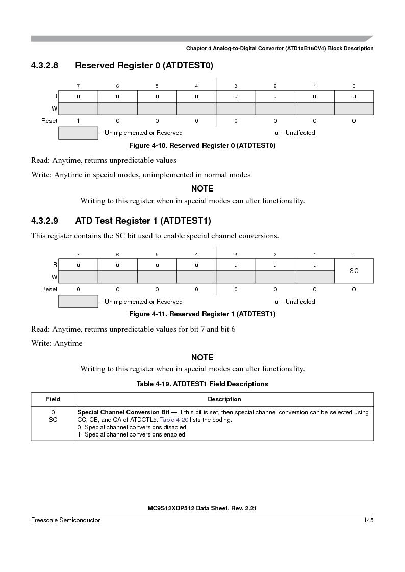 MC9S12XD128MAL ,Freescale Semiconductor厂商,MCU 16BIT 128K FLASH 112-LQFP, MC9S12XD128MAL datasheet预览  第145页