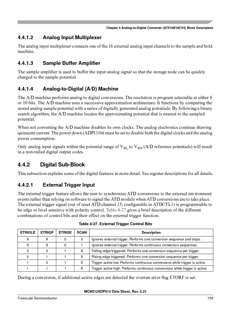 MC9S12XD128MAL ,Freescale Semiconductor厂商,MCU 16BIT 128K FLASH 112-LQFP, MC9S12XD128MAL datasheet预览  第153页