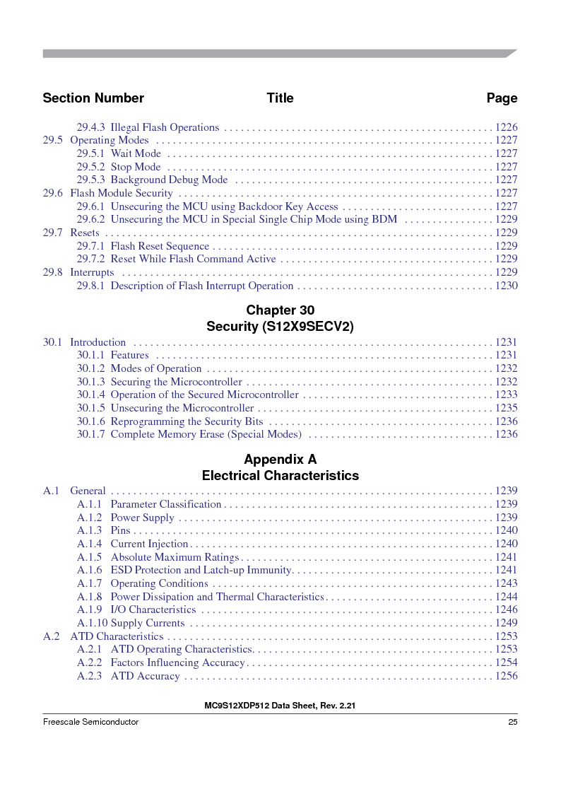MC9S12XD128MAL ,Freescale Semiconductor厂商,MCU 16BIT 128K FLASH 112-LQFP, MC9S12XD128MAL datasheet预览  第25页