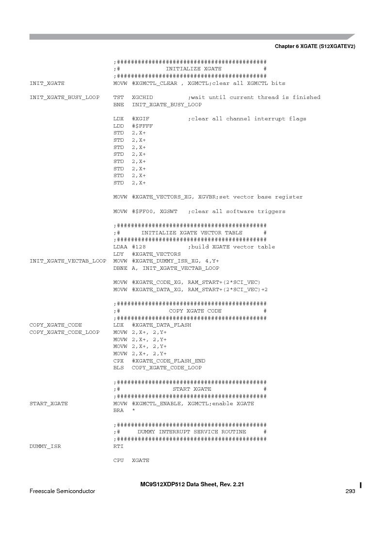 MC9S12XD128MAL ,Freescale Semiconductor厂商,MCU 16BIT 128K FLASH 112-LQFP, MC9S12XD128MAL datasheet预览  第293页