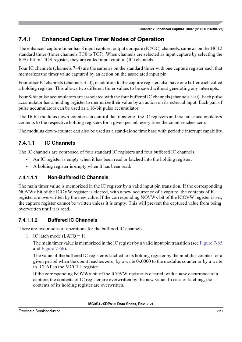 MC9S12XD128MAL ,Freescale Semiconductor厂商,MCU 16BIT 128K FLASH 112-LQFP, MC9S12XD128MAL datasheet预览  第357页