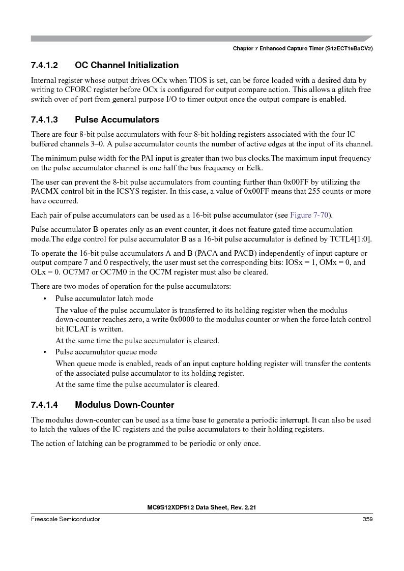 MC9S12XD128MAL ,Freescale Semiconductor厂商,MCU 16BIT 128K FLASH 112-LQFP, MC9S12XD128MAL datasheet预览  第359页
