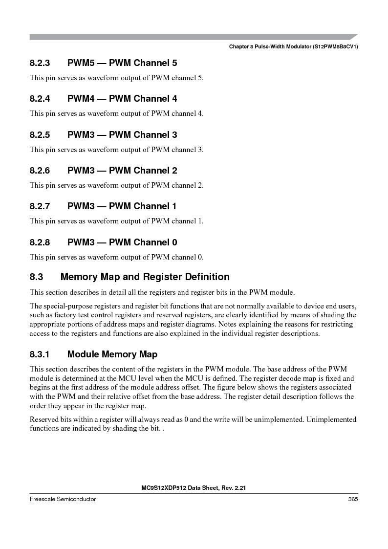 MC9S12XD128MAL ,Freescale Semiconductor厂商,MCU 16BIT 128K FLASH 112-LQFP, MC9S12XD128MAL datasheet预览  第365页