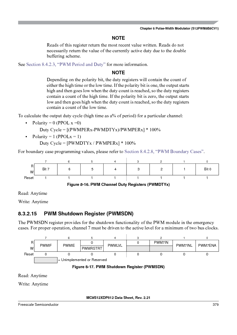 MC9S12XD128MAL ,Freescale Semiconductor厂商,MCU 16BIT 128K FLASH 112-LQFP, MC9S12XD128MAL datasheet预览  第379页