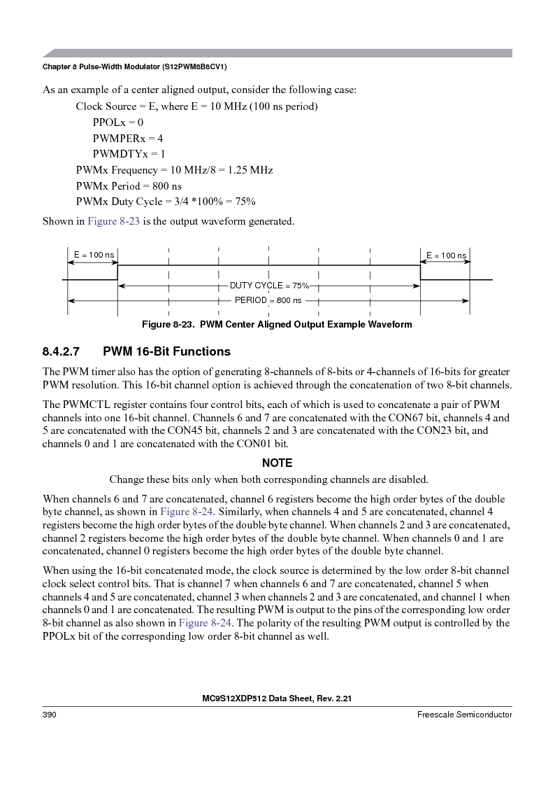 MC9S12XD128MAL ,Freescale Semiconductor厂商,MCU 16BIT 128K FLASH 112-LQFP, MC9S12XD128MAL datasheet预览  第390页