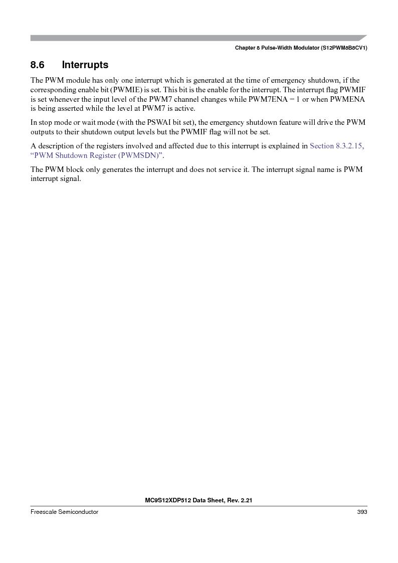 MC9S12XD128MAL ,Freescale Semiconductor厂商,MCU 16BIT 128K FLASH 112-LQFP, MC9S12XD128MAL datasheet预览  第393页