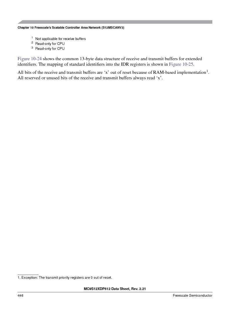 MC9S12XD128MAL ,Freescale Semiconductor厂商,MCU 16BIT 128K FLASH 112-LQFP, MC9S12XD128MAL datasheet预览  第446页