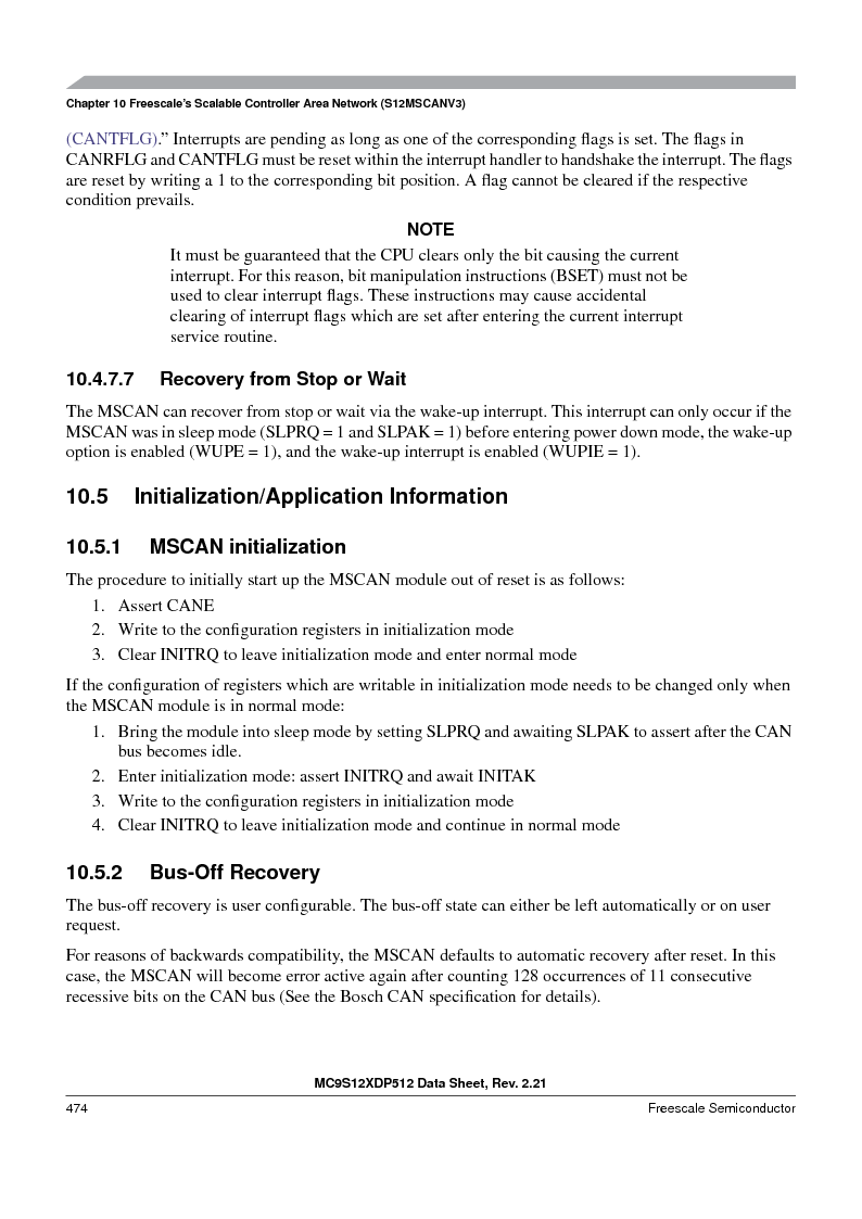 MC9S12XD128MAL ,Freescale Semiconductor厂商,MCU 16BIT 128K FLASH 112-LQFP, MC9S12XD128MAL datasheet预览  第474页